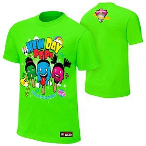 WWE New Day POPS Lime Green T-shirt XL